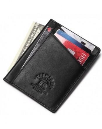 Teemzone Minimalist Wallet Genuine Leather