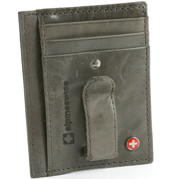 Alpine Swiss Leather Pocket Wallet