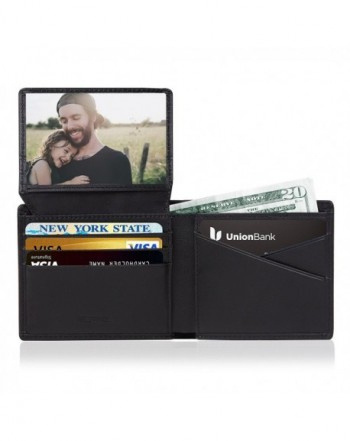 RFID Mens Leather Wallets Pocket