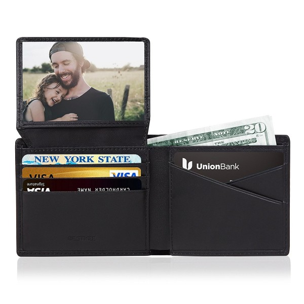 RFID Mens Leather Wallets Pocket