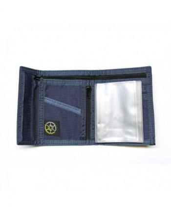 Nylon Bifold Wallet Zippered Pocket