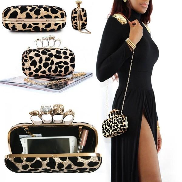 Leopard LLOP Shoulder Evening Handbag