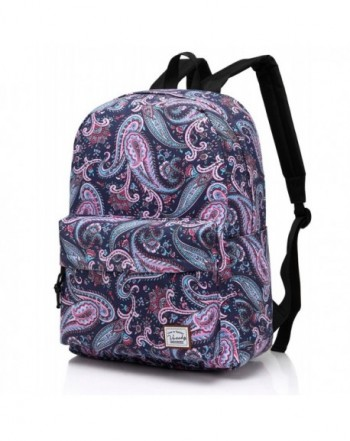 Vaschy Backpack Daypack Pockets Paisley