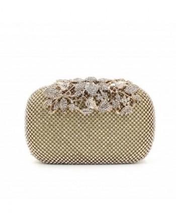 b780588e79 Gold Clutch Purses Classy Flower for Women Luxury Rhinestone Crystal Evening  Clutch Bags Vintage Party - Gold - CE12EWUN1JH