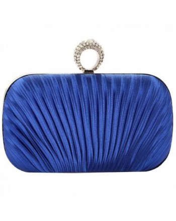 Womens Evening Clutch Pleated Wedding
