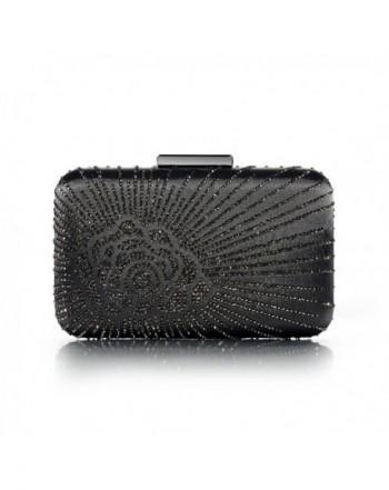 DMIX Evening Handbags Crystal Gunmetal
