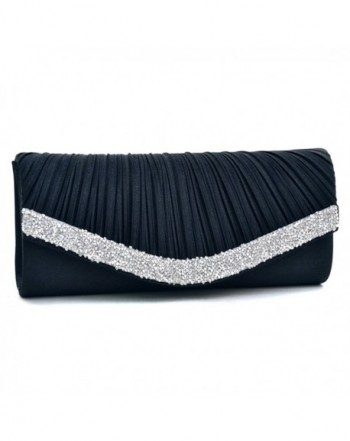 Rhinestone Evening Crystal Pleated Handbag