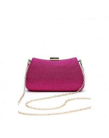 Clutch Evening Glitter Handbag fuchsia