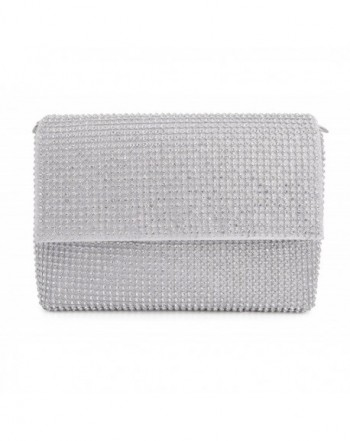 Crystal Clutch Rectangular Clamshell Evening