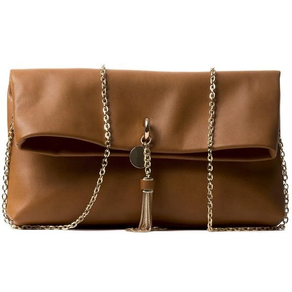 9878191e3f2 Handbag Republic Women's Designer Vegan Leather Chain Clutch Style ...