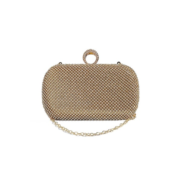 Knuckle Clutch Evening Rhinestones Handbag
