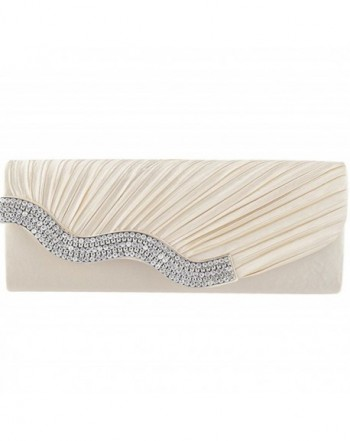 Jubileens Pleated Crystal Evening Champagne