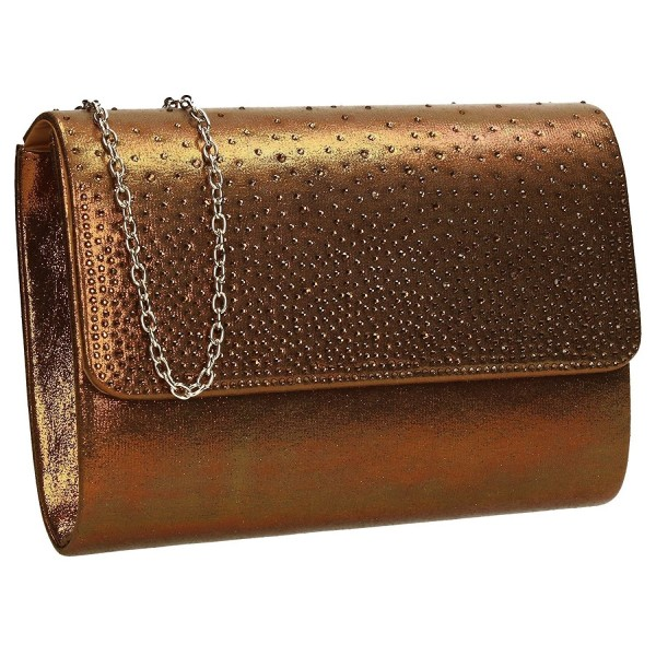 Natalie Diamante Metallic Clutch Bag