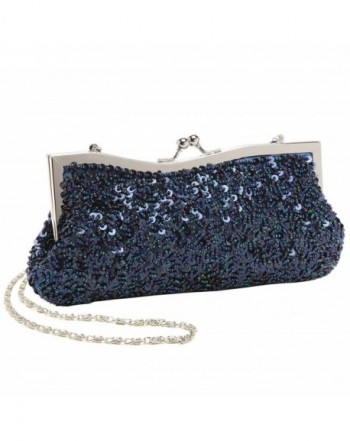 Dazzling Sequined Baguette Evening Clutch