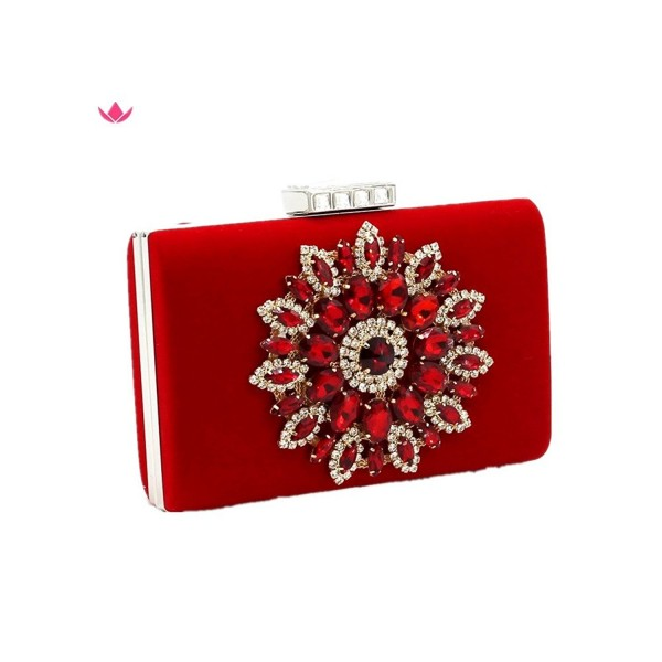 907649c8d3c0 Shiratori Series-Glitter Rhinestone Floral Evening Bag Party ...