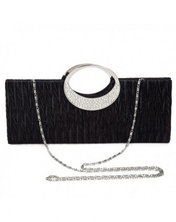 Chichitop Rhinestone Pleated Evening Handbag