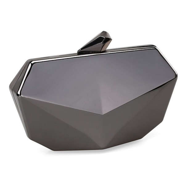Metallic Shaped Evening Handbag Detachable