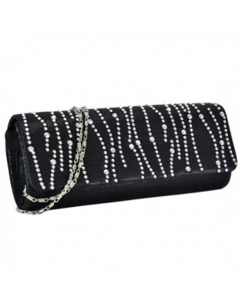 Rhinestone Evening Crystal Pleated Handbag