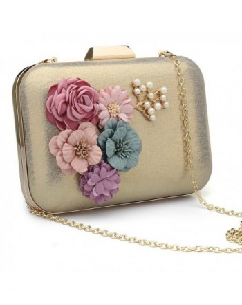 Womens Flower Evening Clutch Handbag