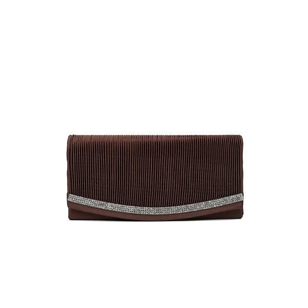 Envelope Pleated Evening Handbag chocolate