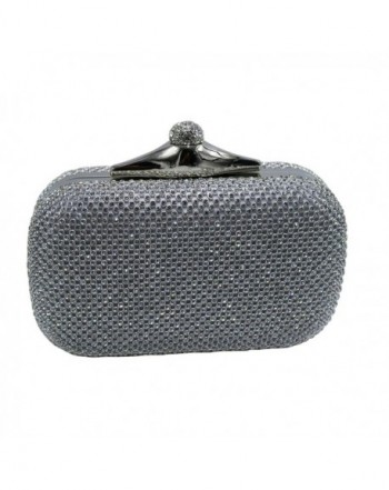 DMIX Crystal Evening Clutch Silver