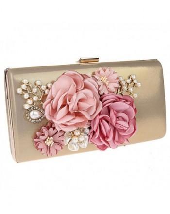 Womens Flower Evening Wedding Handbags