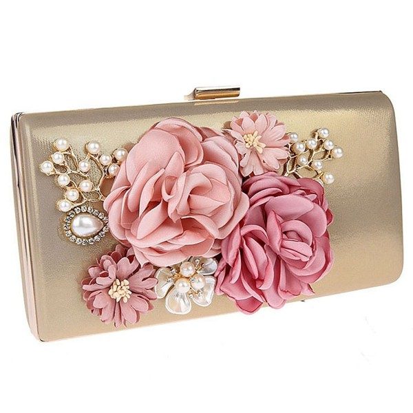 Womens Flower Evening Wedding Handbags