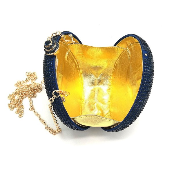 Aysemo Rhinestone Crystal Handbag blue