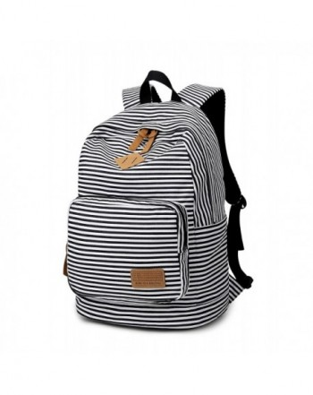 Spalison Striped Canvas Backpack Daypack