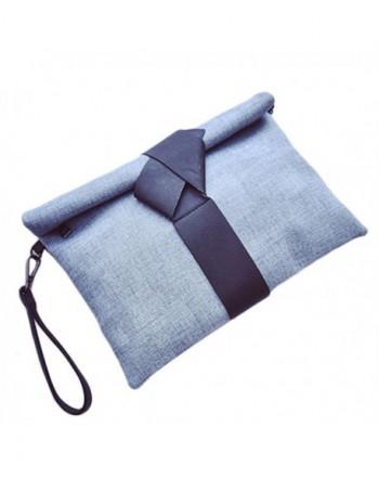 Oversized leather Evening Wristlet Handbag