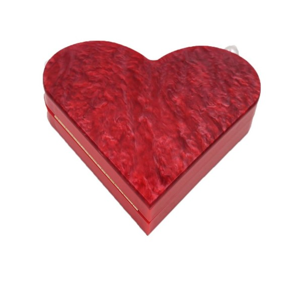Acrylic Heart shaped Evening Vintage Banquet