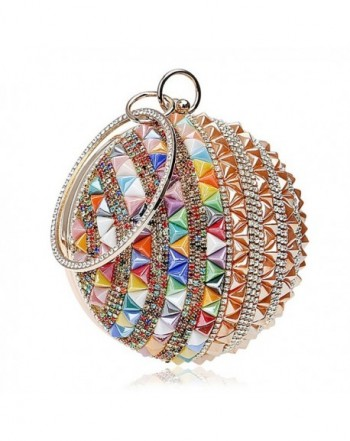 Clutch Handbag Rhinestone Evening Multicolor