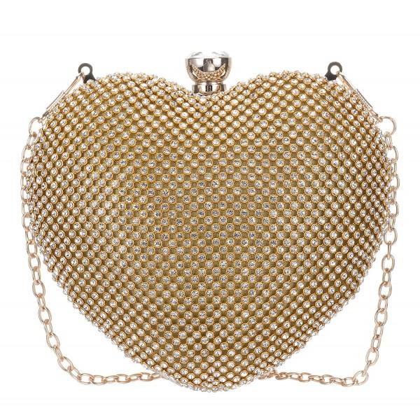 fb8cd1f779d56 Women s Rhinestone Evening Bag Party Purse Handbag Heart Shape ...