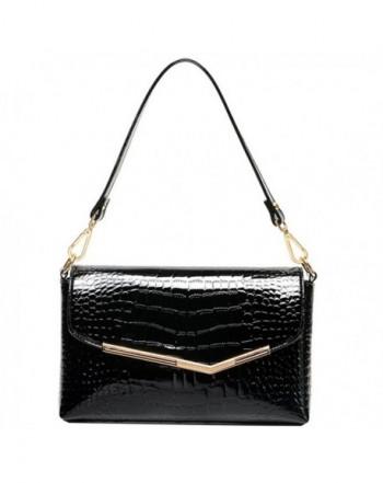 Leather Handbag Alligator Pattern Shoulder