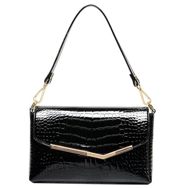 Leather Handbag Alligator Pattern Shoulder