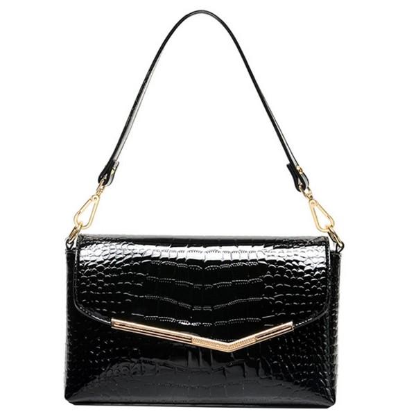 4a6572542ea Leather Clutch Handbag Alligator Pattern Shoulder Bag Evening Bag ...