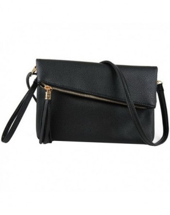 Orfila Foldover Leather Wristlet Shoulder