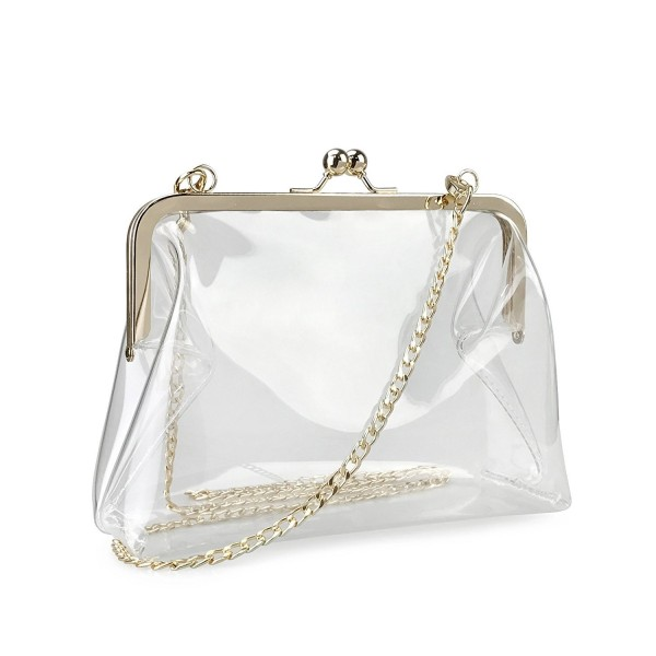 Hoxis Clear Transparent Womens Clutch