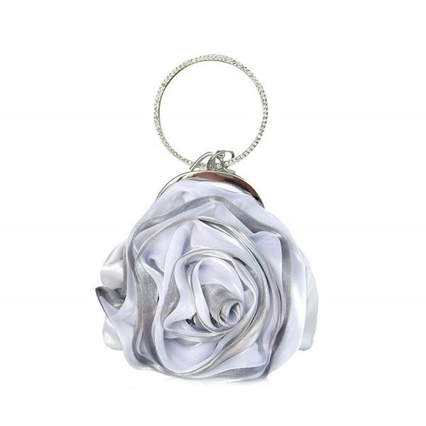 ILISHOP Rosette Bridesmaid Wristlet Rhinestone