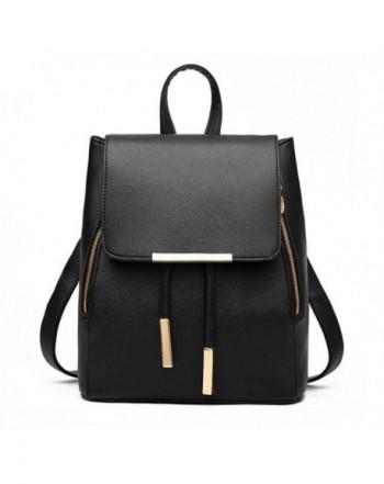 Backpack Leather Capacity Rucksack Shoulder