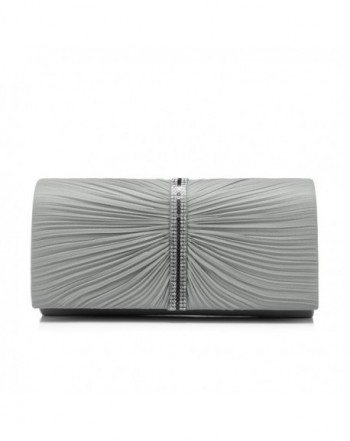 Clutch Evening Handbags Rhinestones Pleated