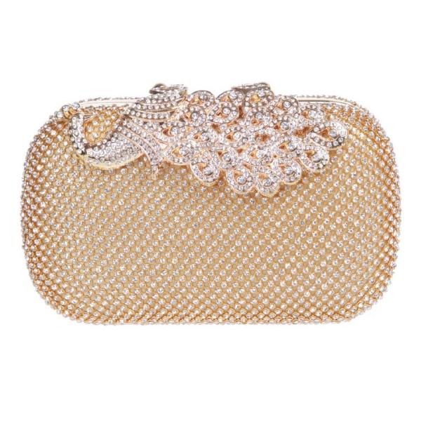 Elegant Rhinestone Peacock Cocktail Handbags