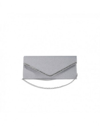 Envelope Metallic Glitter Evening Handbag