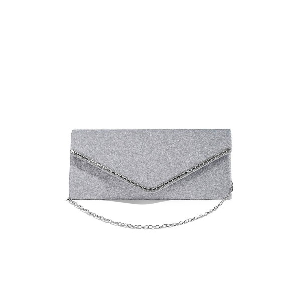 ff0c272c6cb Women Envelope Clutch Purse Metallic Glitter Evening Bag Handbag ...