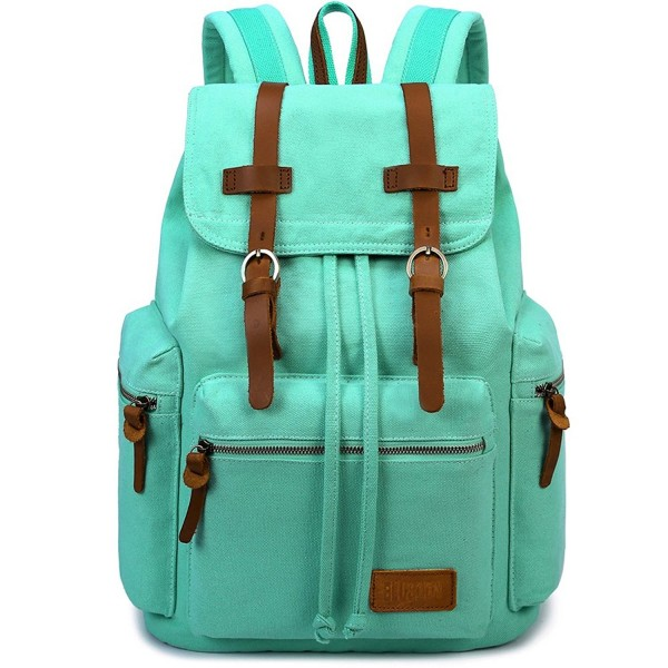 BLUBOON Vintage Backpack Leather Rucksack