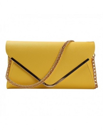 HONEYJOY Leather Evening Envelope Handbag