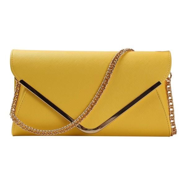 HONEYJOY Leather Evening Envelope Handbag