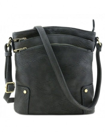 Triple Pocket Large Crossbody Dark