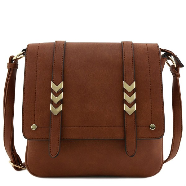 Double Compartment Large Crossbody Brown