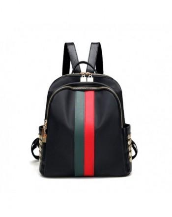 Leparvi Backpack Fashion Schoolbag Red green
